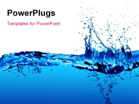powerpoint template clean fresh blue water splash 30864