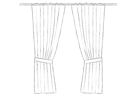 how to draw drapery how to draw curtains drawingforall net