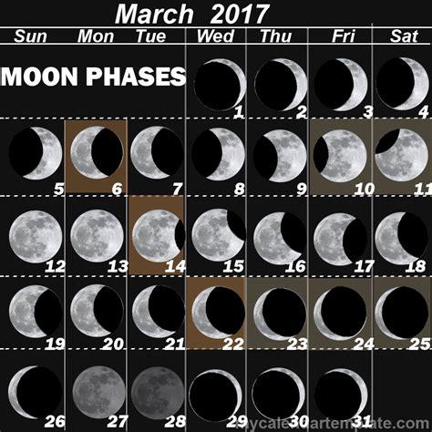 Calendar With Moon Phases Moon Phases 2017 Calendar