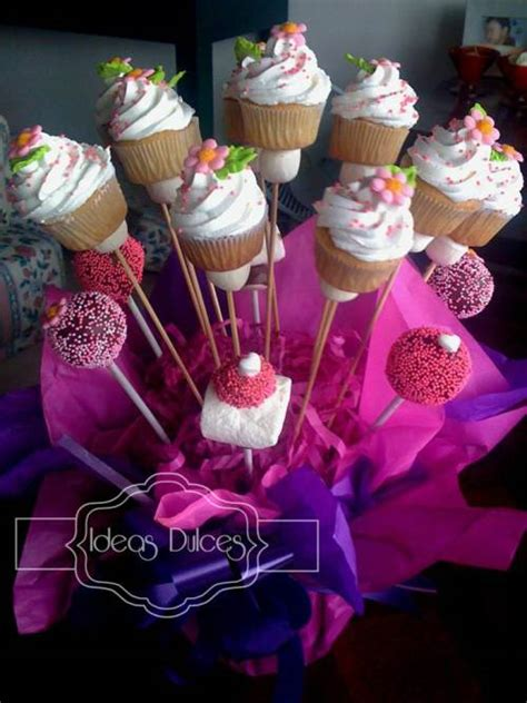arreglos masmelo arreglo de mini cupcakes cake pops y masmelos para el