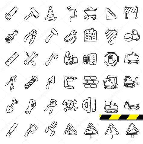 doodle vectors construction doodle icons set stock vector 169 iriskana