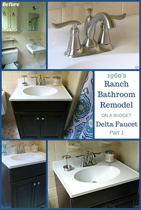 1960 bathroom remodel 1960 s ranch bathroom remodel delta linden lavatory faucet