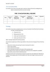 fire safety log book 2012