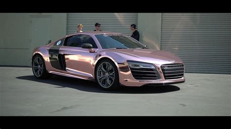audi r8 tanner tanner braungardt s audi r8 reveal rose gold chrome sd