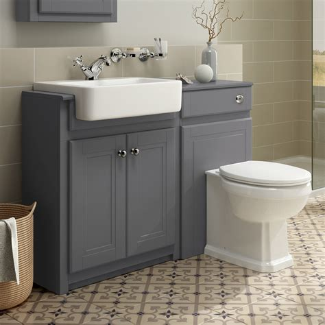 Toilet And Sink Vanity Units by Traditional Combined Bathroom Furniture Sink Basin Vanity