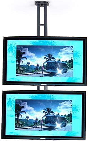 Monitor Stands Accommodate Dual Flat Screen Tvs