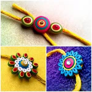 Handmade Fabric Flower - 15 best ideas to make rakhi at home for rakshabandhan