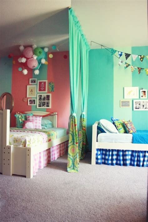 12 blue and pink shared rooms kidsomania