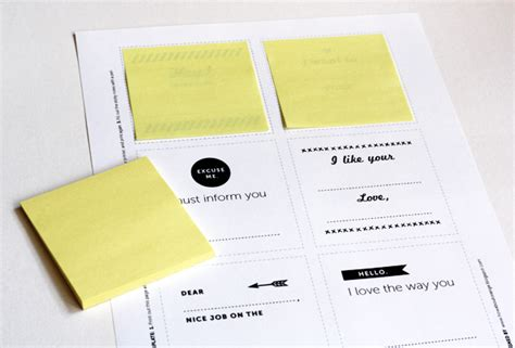 Print Your Own Post It Notes How About Orange Print On Post It Notes Template