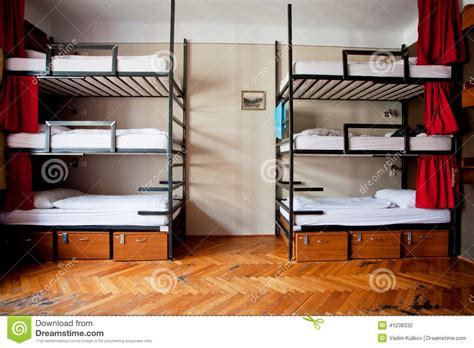 1 Bedroom Guest House Floor Plans three level dormitory beds inside the hostel room for six