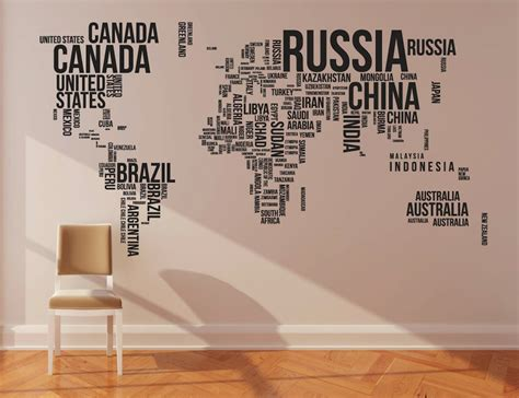 map of the world stickers for walls world map wall stickers 187 gadget flow
