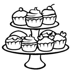 cupcake coloring pages free printable cupcake coloring pages for