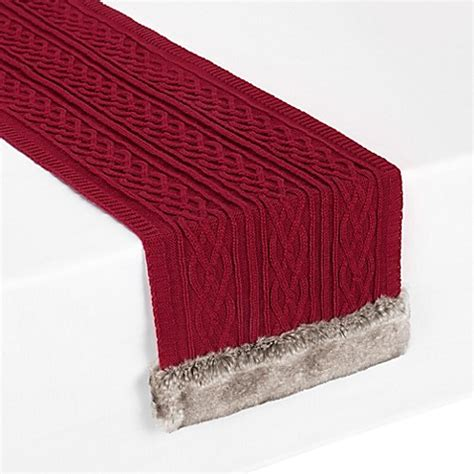 72 inch table runner buy ugg 174 cable knit 72 inch table runner from bed bath