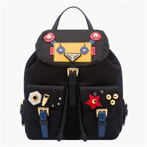 Tas Backpack Sekolah Cat 21737 Limited prada pouch black yellow pink leather prada