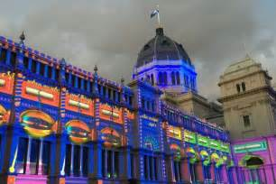 light up viera parade 2017 white night lights up melbourne s iconic buildings