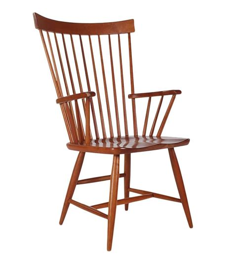 Spindle Back Dining Room Chairs Set Of Six Mid Century Modern Spindle Back Dining Chairs In Cherry For Sale At 1stdibs