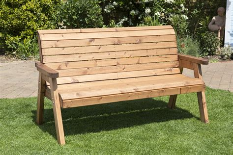 Handmade Wooden Benches - uk handmade fully assembled heavy duty wooden garden bench