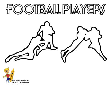 action football coloring pages to print football free
