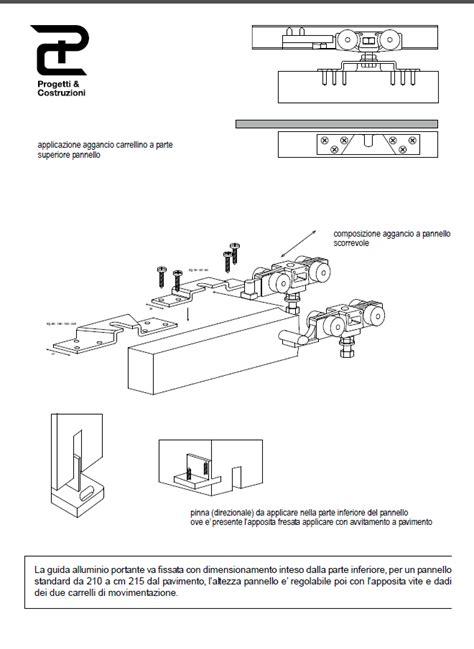 come montare porta scorrevole istruzioni montaggio porta scorrevole interna stra