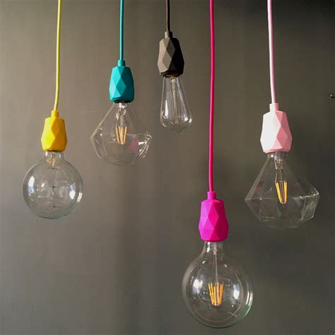 how do you measure a l shade e faceted silicone pendant light fitting in yellow