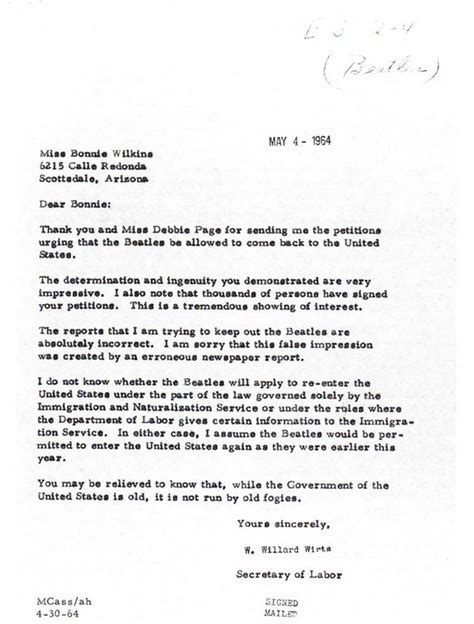 Petition Letter In Children And Youth In History Beatles Petition And Response Letters