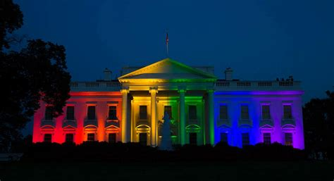 white lights on house white house set aglow with rainbow pride adam b lerner