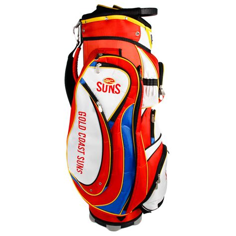 Golf Standbag Golf Pgf afl gold coast suns cart style golf bag sportitude