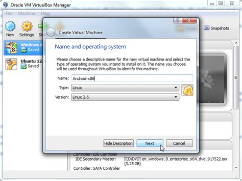 android x86 virtualbox how to install android in virtualbox