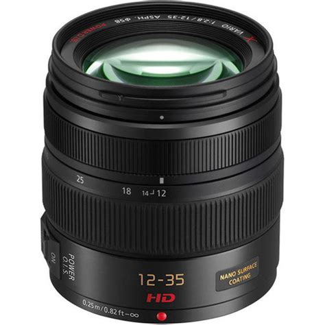 Panasonic Lensa 12 35mm F2 8 Black panasonic lumix g x vario 12 35mm f 2 8 asph lens h