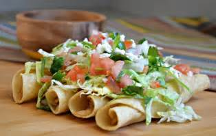 mexican style chicken flautas my latina table