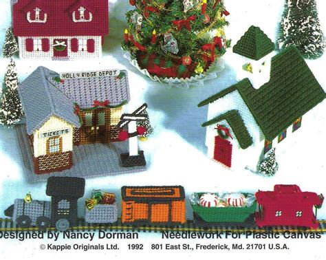 pattern for christmas village plastic canvas christmas village pattern booklet by