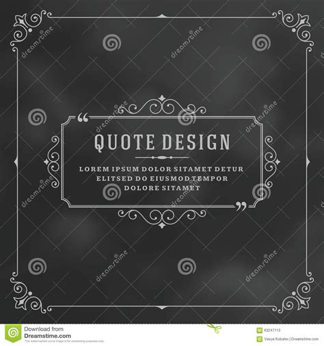 quotation marks layout vintage ornament quote marks box frame vector stock vector