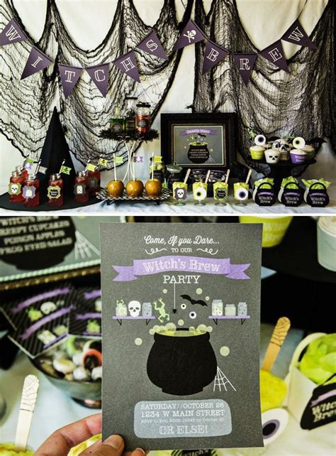 witchs brew theme party party home decor autumn witch diy