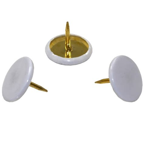 B Q Drawing Pins by Drawing Pins White Pack 120