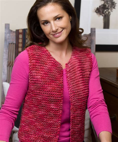 knitting pattern simple vest easy going vest knitting pattern red heart