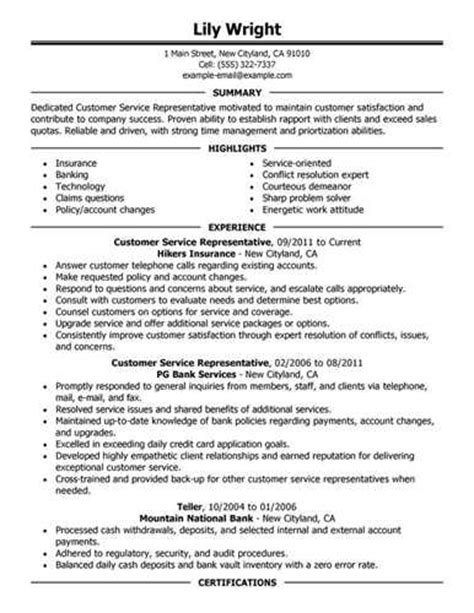 Resume Customer Service Airport Sle Customer Service Resume