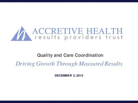 accretive health quality care health care quality