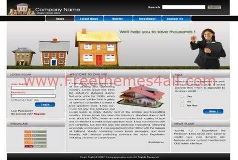 Free Real Estate Company Website Joomla Template Freethemes4all Real Estate Joomla Template Free