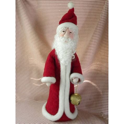 needle felted santa living felt blog