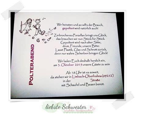 Polterabend Einladung by Die 25 Besten Ideen Zu Polterabend Einladung Auf