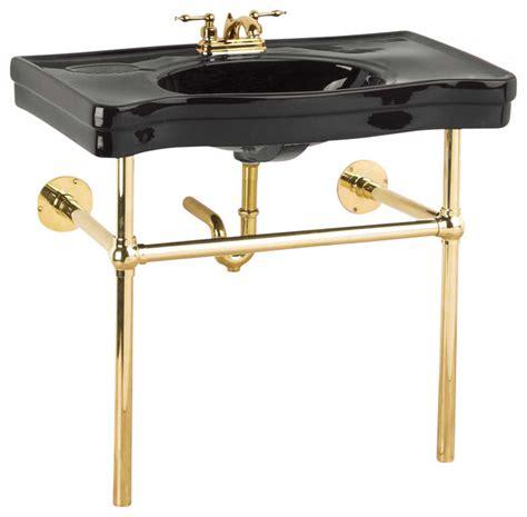 bathroom sinks with legs console sinks black belle epoque sink bistro brass legs