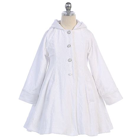 white swing coat angels garment white wool hooded swing coat toddler little