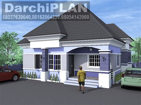 Nigeria Building Style Architectural Designs By Darchiplan 4 Bedroom Bungalow Architectural Design