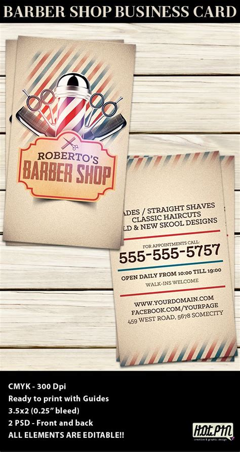 business card advertisement template barber shop business card template barber shop card