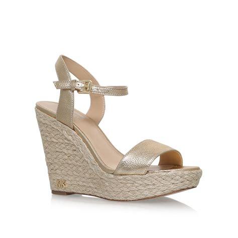 michael kors gold wedge sandals www pixshark