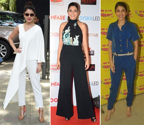 anushka sharma is slayin it in a jumpsuit as she poses bollywood s 7 hottest fashionistas wear onesies like you