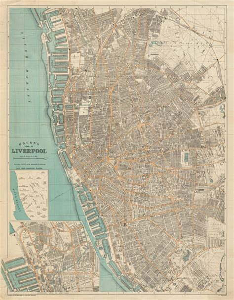liverpool map liverpool 1900 majesty maps prints