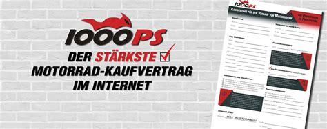 Motorrad Verkaufen Vertrag Vorlage by 1000ps Motorrad Kaufvertrag Kostenloser Download