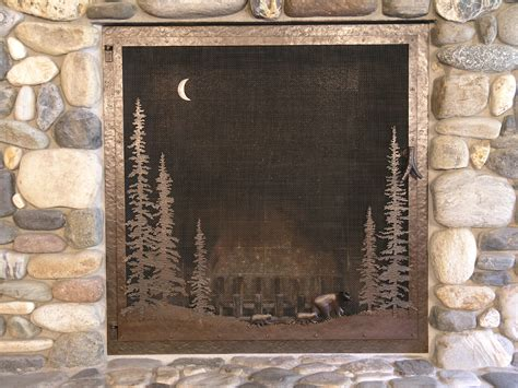 Handmade Fireplace Screens - custom arched fireplace screen fireplaces
