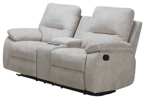 reclining loveseat with center console homelegance marianna double reclining loveseat with center